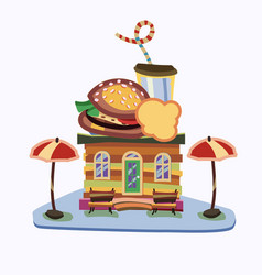 a shop building products with vector image