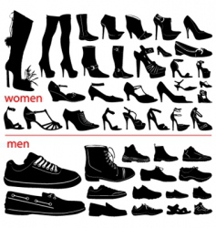 Women and men shoes vector