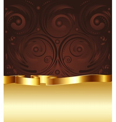 Brown and gold background4 vector