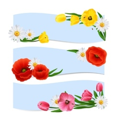 Floral banners horizontal vector