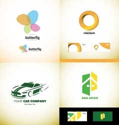 Company logo design elements icon set vector