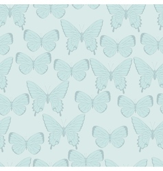 Butterflies beautiful background with a flower vector