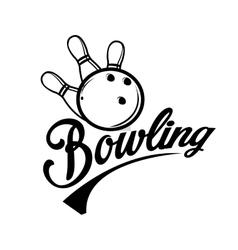 Bowling emblems labels badges and designed vector