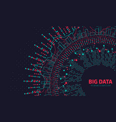 Abstract 3d big data visualization futuristic vector