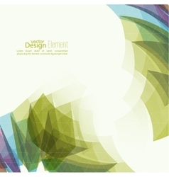 Angular geometric color shape vector