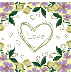 Beautiful bright postcard confession of love vector