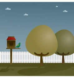 bird house vector image vector image