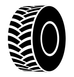 black tractor tyre symbol vector image vector image