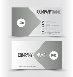 Business card set template Grey and silver color vector image vector image