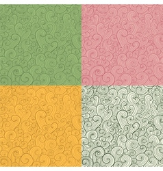 Collection of stylized hand drawn abstract vector image vector image