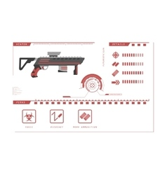 Details of gun rifle game perks vector