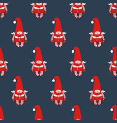 elf seamless pattern vector image vector image