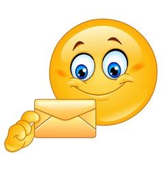 emoticon with envelope vector image vector image