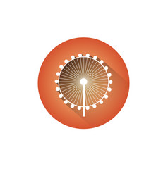 Ferris wheel icon silhouette observation circle vector