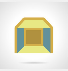 Indoor pavilion flat color icon vector