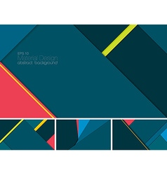 Material design abstract background vector image
