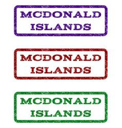Mcdonald islands watermark stamp vector