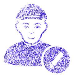 Modify user icon grunge watermark vector