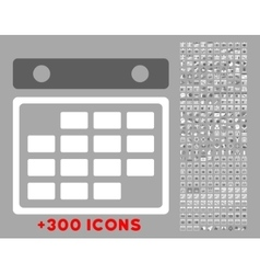 Month plan icon vector