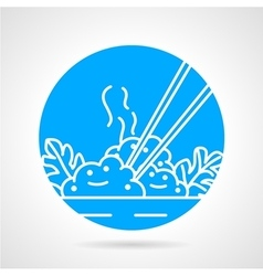 Rice dish abstract icon vector
