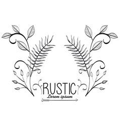 Rustic wreath crown icon vector