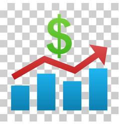 Sales chart gradient icon vector