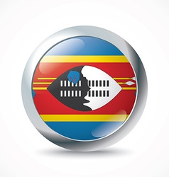 Swaziland flag button vector image vector image