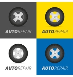 Tire service vector image vector image