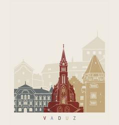 Vaduz skyline poster vector