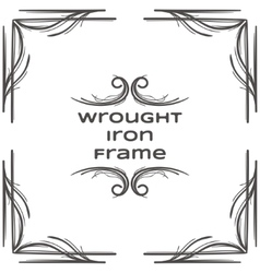 Wrought iron frame two vector