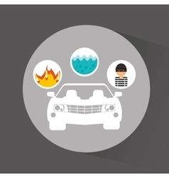 Car insurance business icon vector