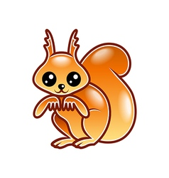 Cute cartoon squirrel isolated vector
