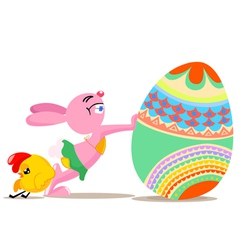 Easter funny vector