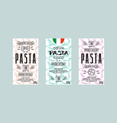 Set of templates label for pasta vector