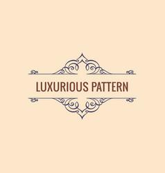 Calligraphic luxury line symbol flourishes vector