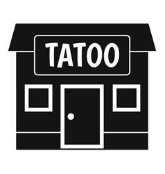 Tattoo salon building icon simple vector