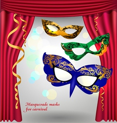 Theater curtains and masks vector