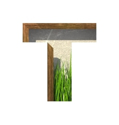 Grass cutted figure t paste to any background vector