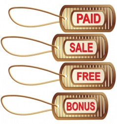 set of gold tags for best sales vector image