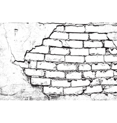 Damaged bricks vector