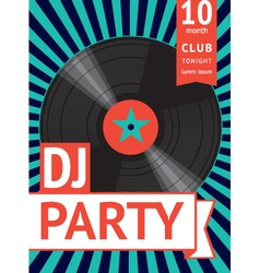 Vintage party poster vector