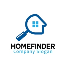Home finder design vector
