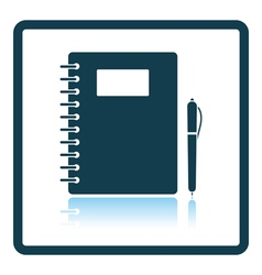 Icon of exercise book vector
