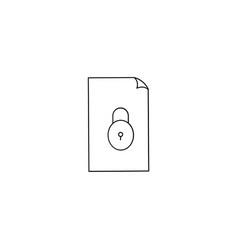 An isolated folder with a lock pad icon vector