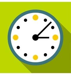 Big wall clock icon flat style vector