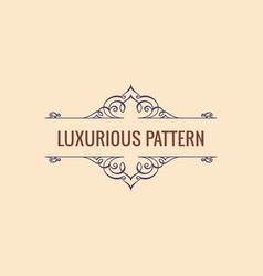 Calligraphic luxury line symbol flourishes vector