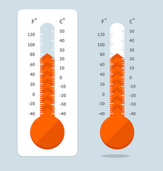 cartoon red thermometer vector image
