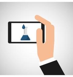 Chemistry laboratory smartphone experiment vector