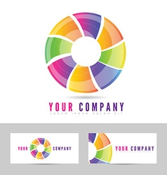 Colored business logo vector image vector image