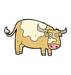 Comic cartoon cow vector